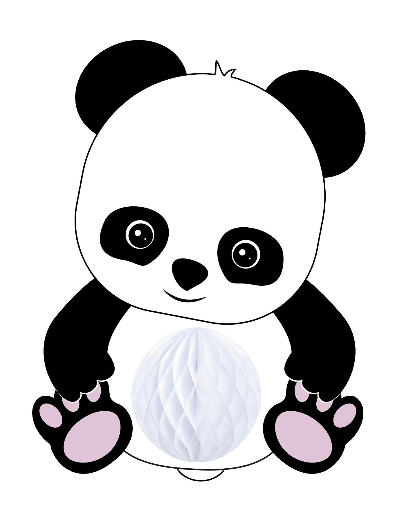 Suspension Bébé Panda Alvéolée 20 Cm Décoration Anniversaire Et Fêtes à Thème Sur Vegaoo Party