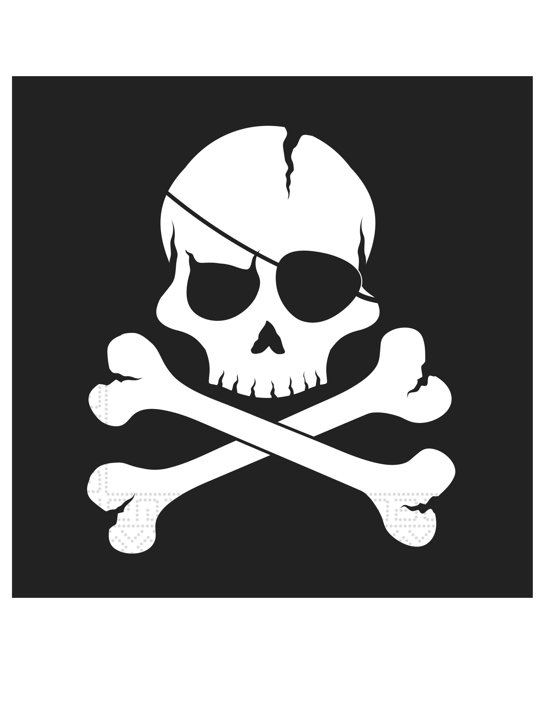 12 x serviettes en papier pirate tete de mort anniversaire decoration garçon