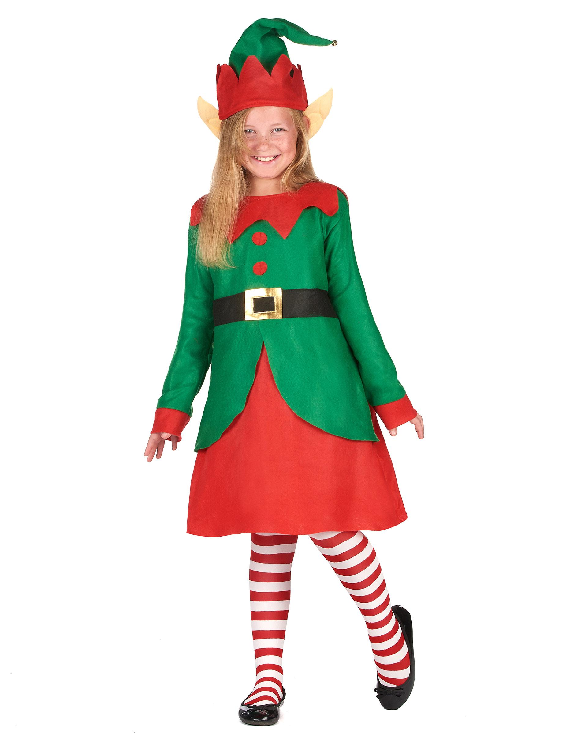 9a9cb40a59a Déguisement robe elfe de Noël fille