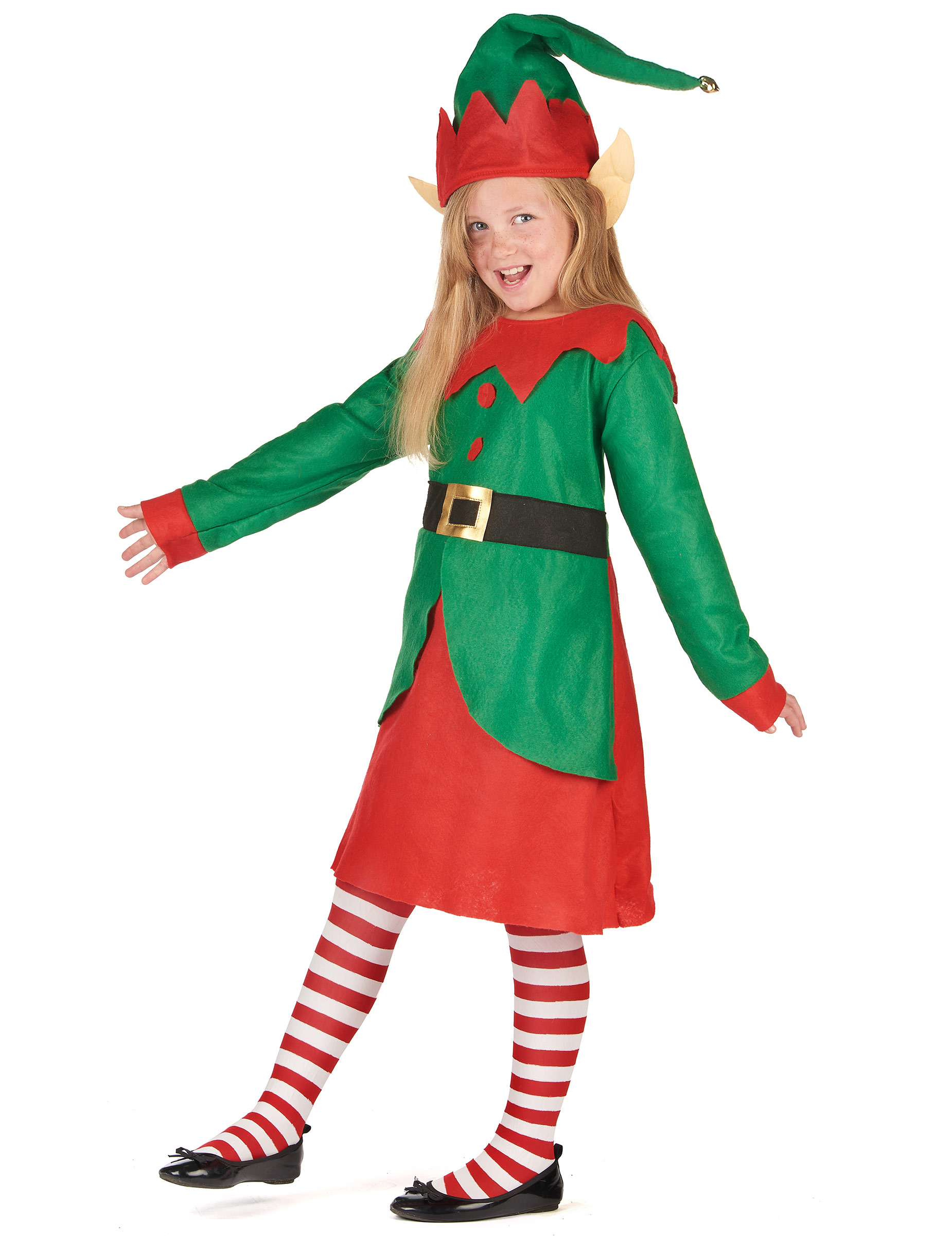643a599a564 Déguisement robe elfe de Noël fille-1
