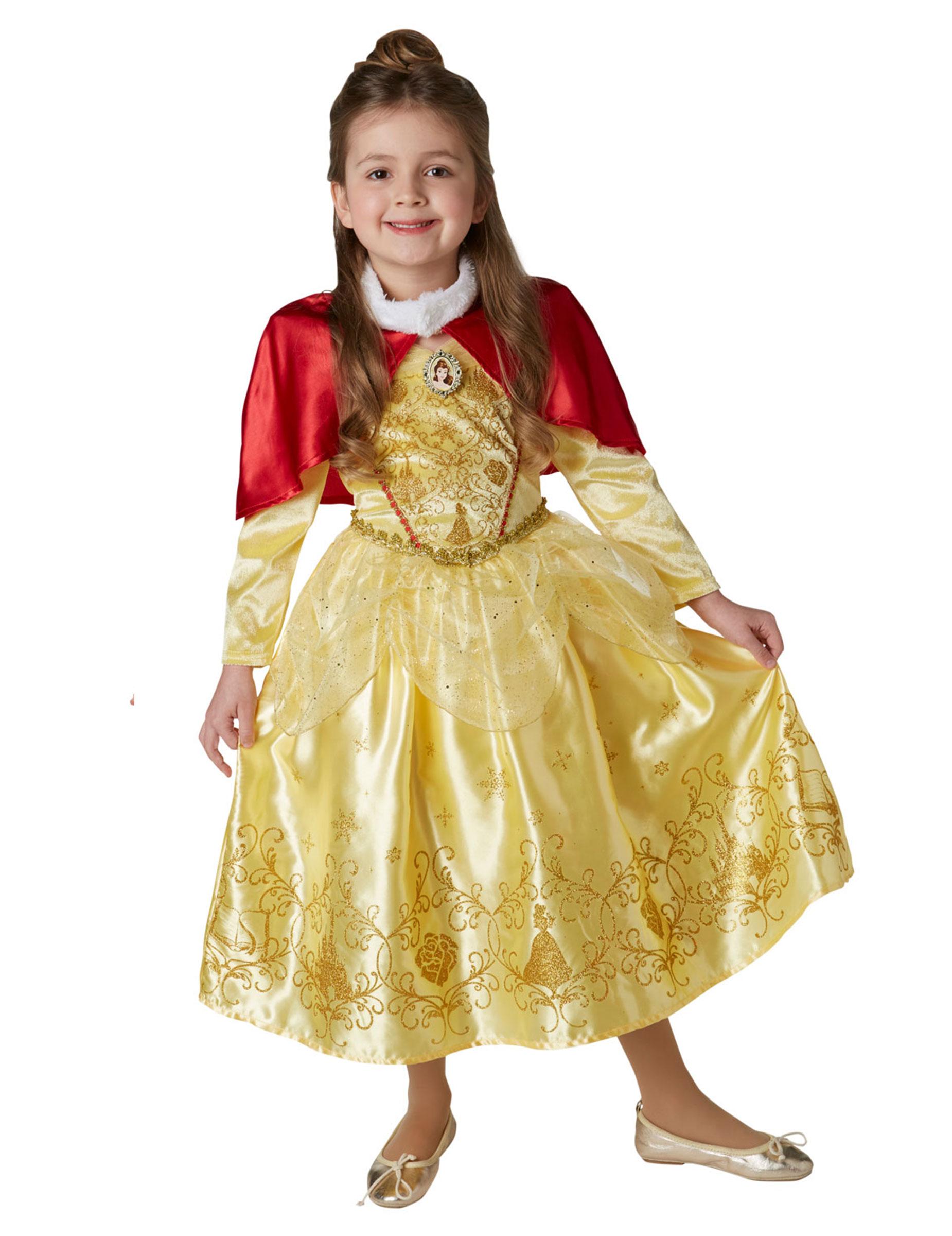 d guisement princesse de l 39 hiver belle avec cape fille d coration anniversaire et f tes. Black Bedroom Furniture Sets. Home Design Ideas