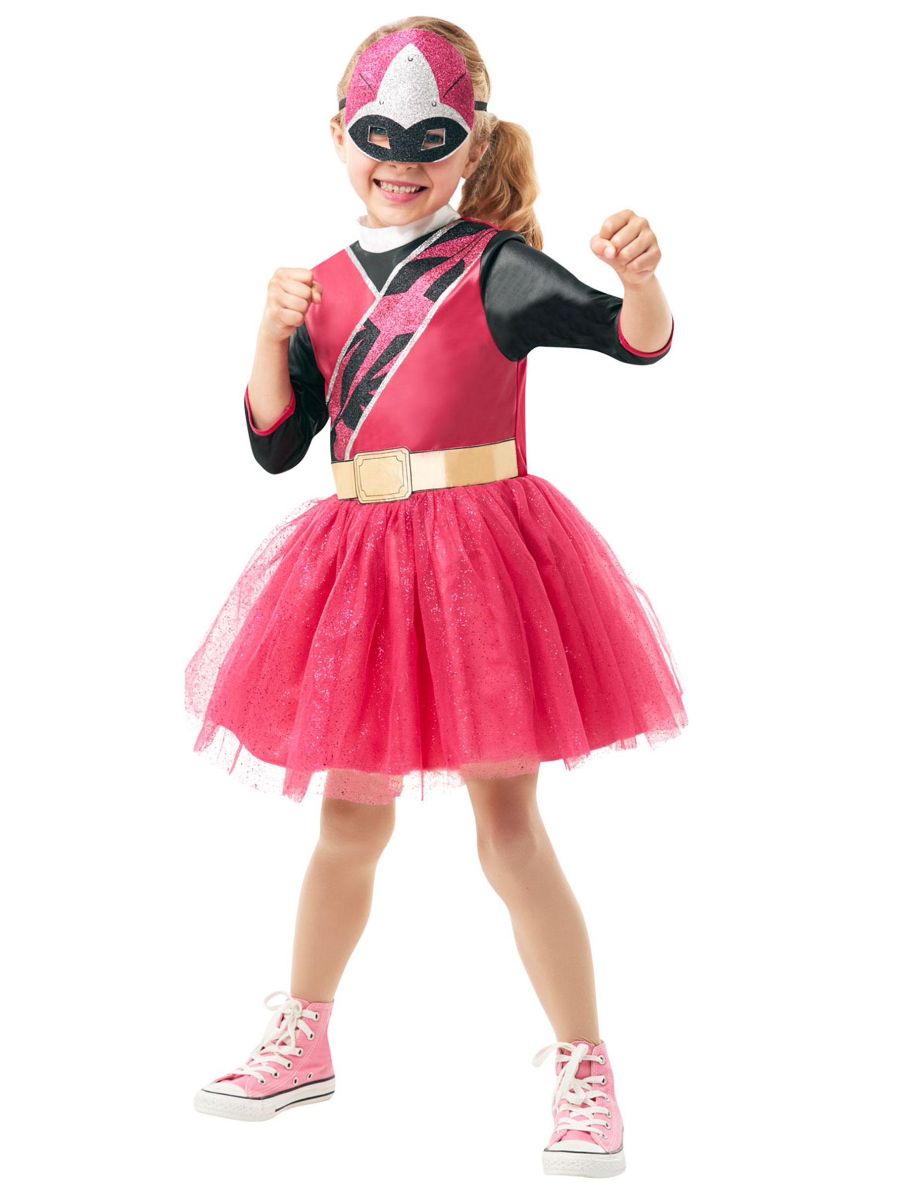 Déguisement Classique Power Rangers Ninja Steel Rose Fille Décoration Anniversaire Et Fêtes à Thème Sur Vegaoo Party