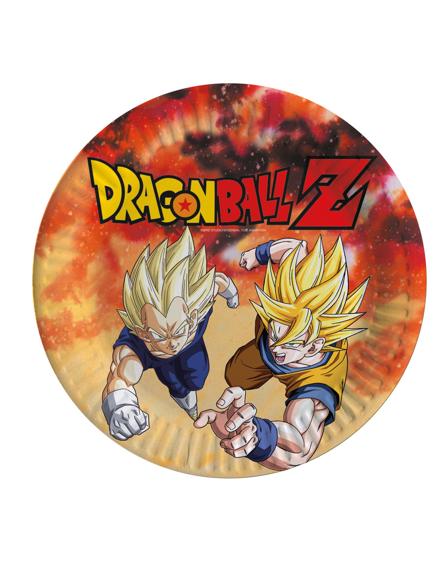 8 Assiettes En Carton Dragon Ball Z 23 Cm Decoration