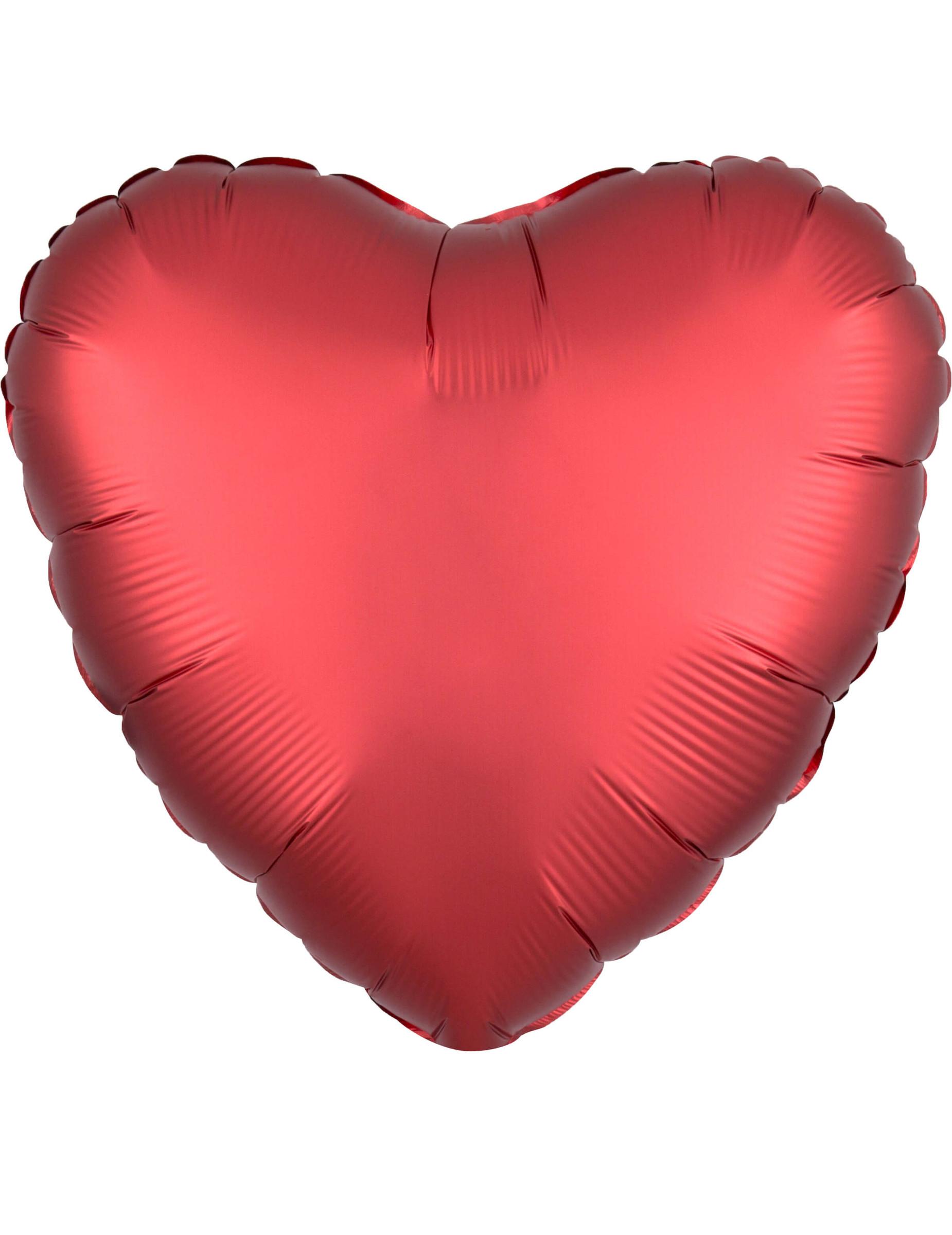 Ballon Aluminium Coeur Rouge Rubis Satiné 43 Cm Décoration Anniversaire Et Fêtes à Thème Sur Vegaoo Party