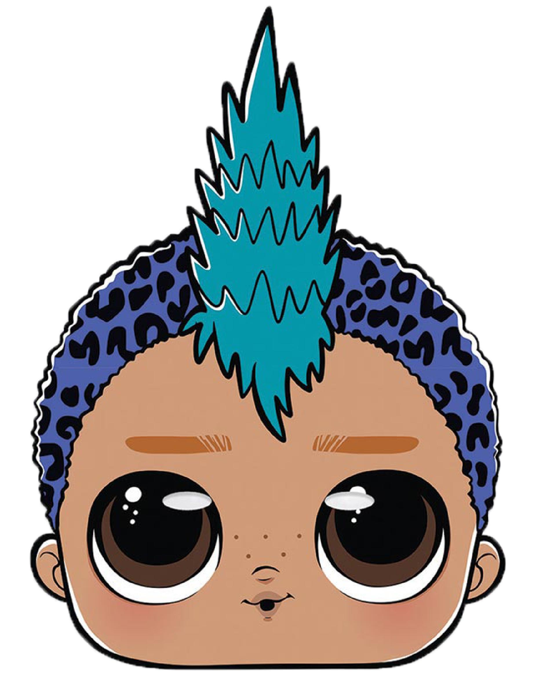 soldes acheter de nouveaux rencontrer Masque en carton Punk boy LOL Surprise™, décoration anniversaire ...