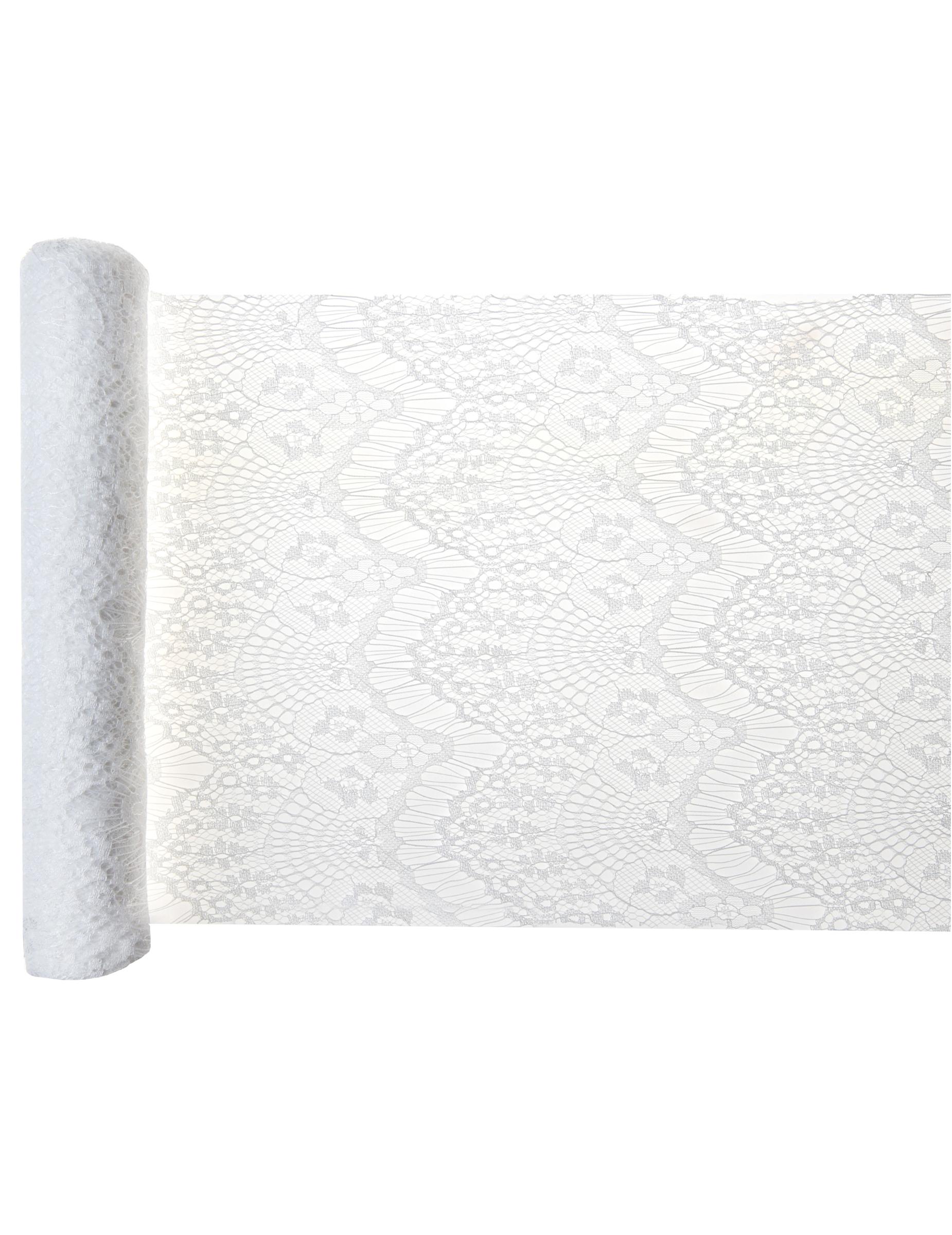 Chemin De Table En Polyester Boho Chic Blanc 30 Cm X 3 M