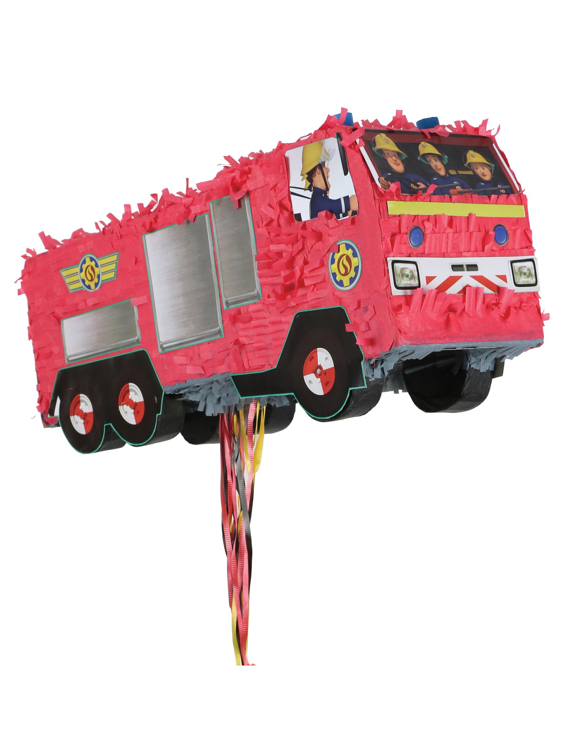 Pi ata camion sam le pompier d coration anniversaire et f tes th me sur vegaoo party - Camion pompier sam ...