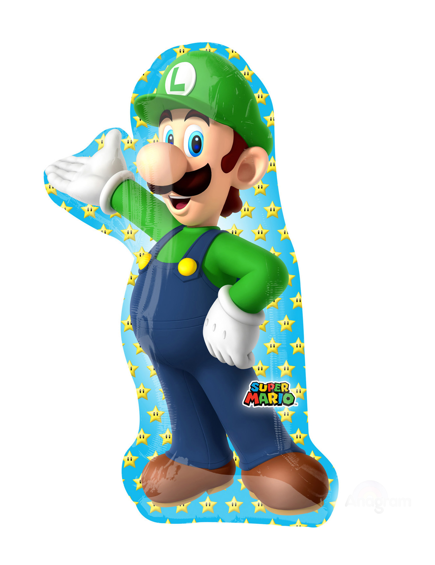 Ballon En Aluminium Luigi Super Mario Bros 50 X 96 Cm Decoration