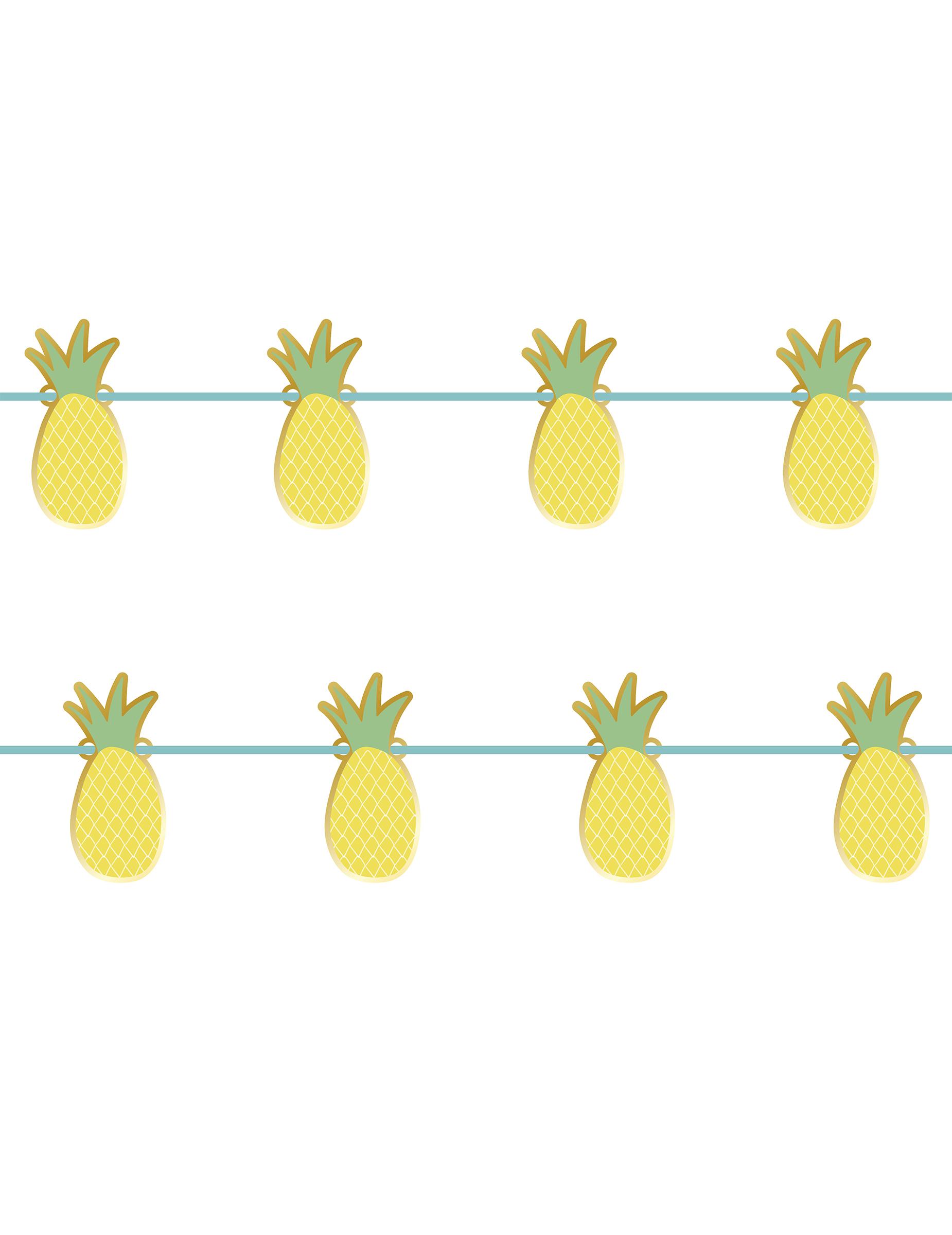 Guirlande En Carton Metallisee Ananas 2 M Decoration Anniversaire Et Fetes A Theme Sur Vegaoo Party