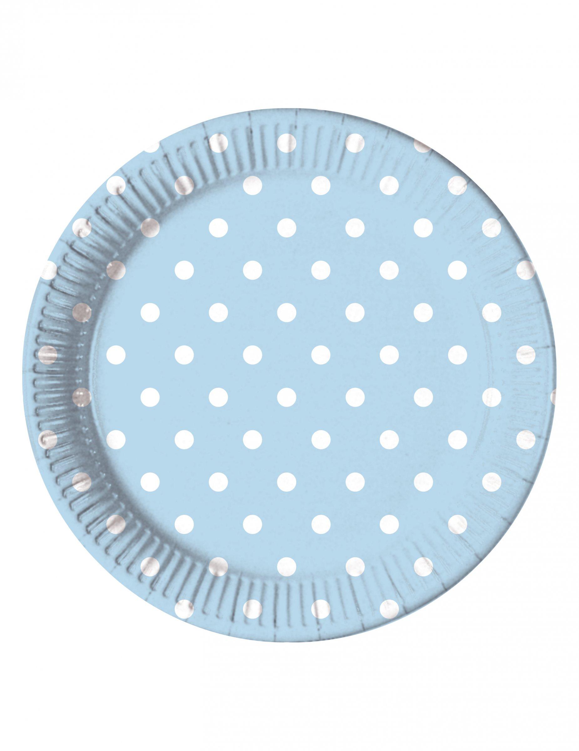 Dots Mickey Mouse thème Bleu Fête Vaisselle Personnalisé