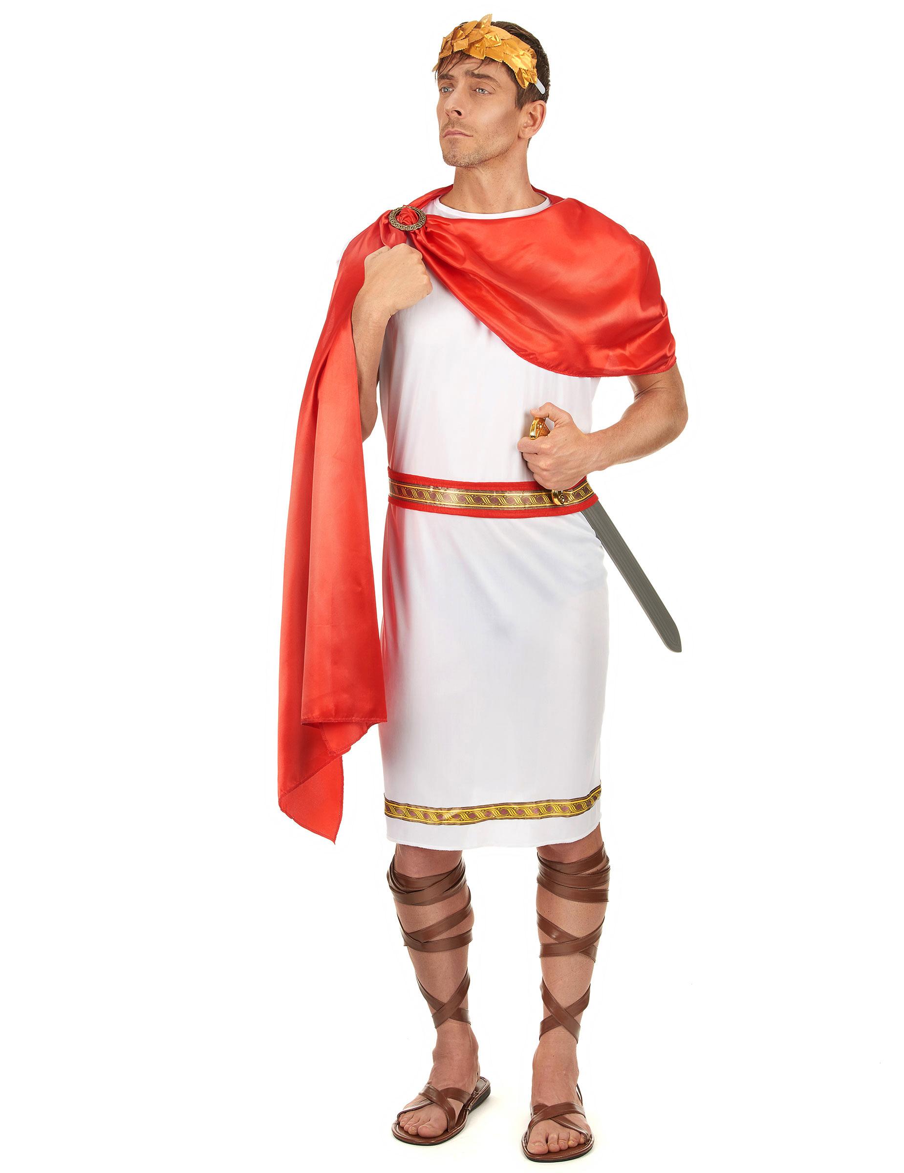 Déguisement de César,Empereur,Romain,Tribun,Consul,Toge,Accessoire,Costume,Fête