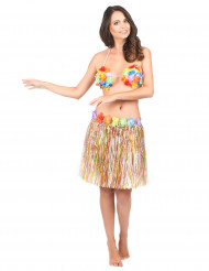 Jupe hawaïenne multicolore adulte