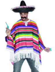 Poncho mexicain homme