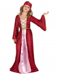 Déguisement reine médiévale fille