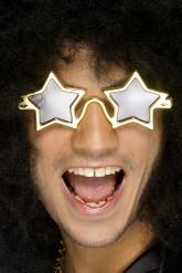 Lunettes dorées étoile adulte
