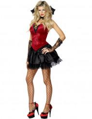 Déguisement vampire effet velours femme Halloween sexy