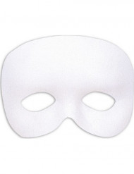 Demi-masque blanc adulte