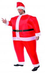 Déguisement père Noël gonflable homme