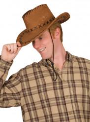 Chapeau cowboy marron adulte