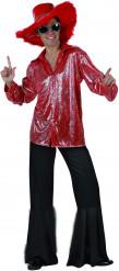 Déguisement disco rouge homme