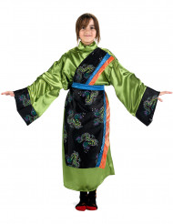 Déguisement chinoise vert fille