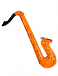 Saxophone gonflable orange adulte