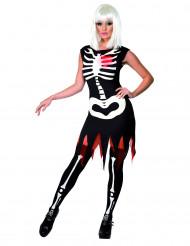 Déguisement squelette femme noir Halloween