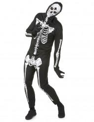 Déguisement noir squelettehomme Halloween