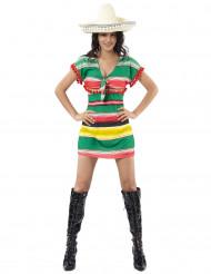 Déguisement mexicaine robe courte femme