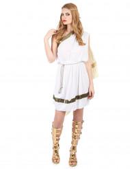 Déguisement déesse romaine avec cape femme