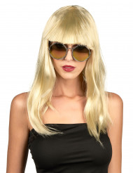 Perruque blonde avec frange femme