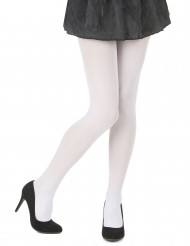 Collants opaques blancs adulte