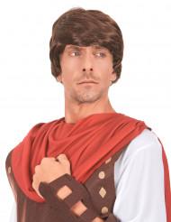 Perruque châtain de soldat romain homme