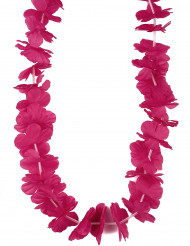 Collier Hawaï rose fuchsia adulte
