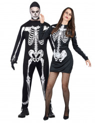Déguisement de couple squelette Halloween