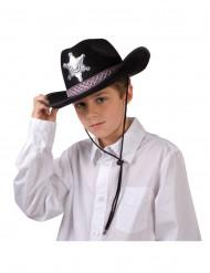 Chapeau shérif noir garçon