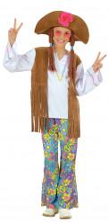 Déguisement hippie flower power fille