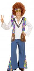 Déguisement hippie bleu garçon