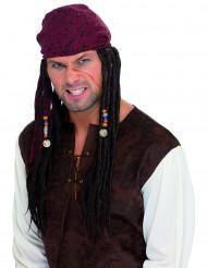 Perruque pirate dreadlocks homme