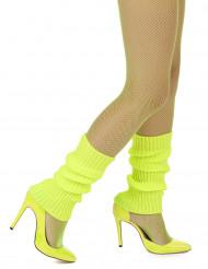 Jambières jaunes fluo femme