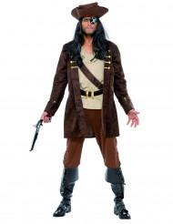 Déguisement pirate veste mi-longue homme