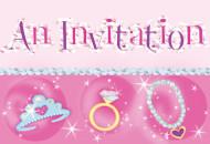8 Carte invitations Princesse