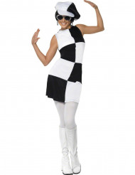 Déguisement blanc disco femme