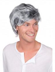 Perruque grisonnante homme