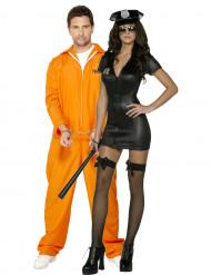 Déguisement couple policière sexy et son prisonnier