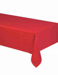 Nappe en papier rouge 140 x 280 cm