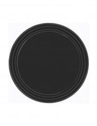 8 Assiettes noires