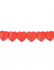 Guirlande papier coeurs rouges 4 m