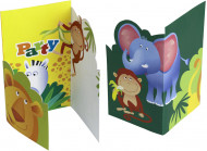 6 Cartons d\'invitation Safari