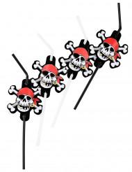Pailles flexibles pirate